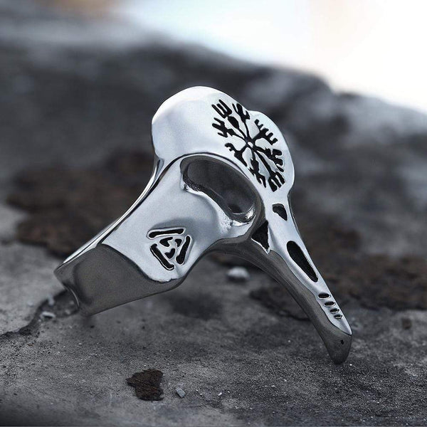 Crow Beak Stainless Steel Viking Ring