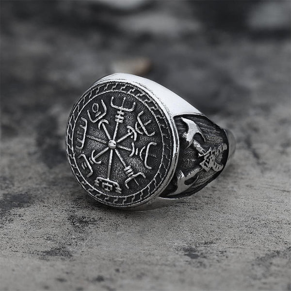 Viking Compass Vegvisir Stainless Steel Ring