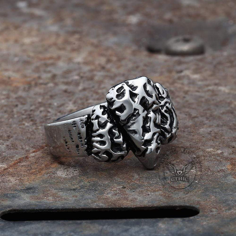 Stone Spear Arrow Stainless Steel Ring