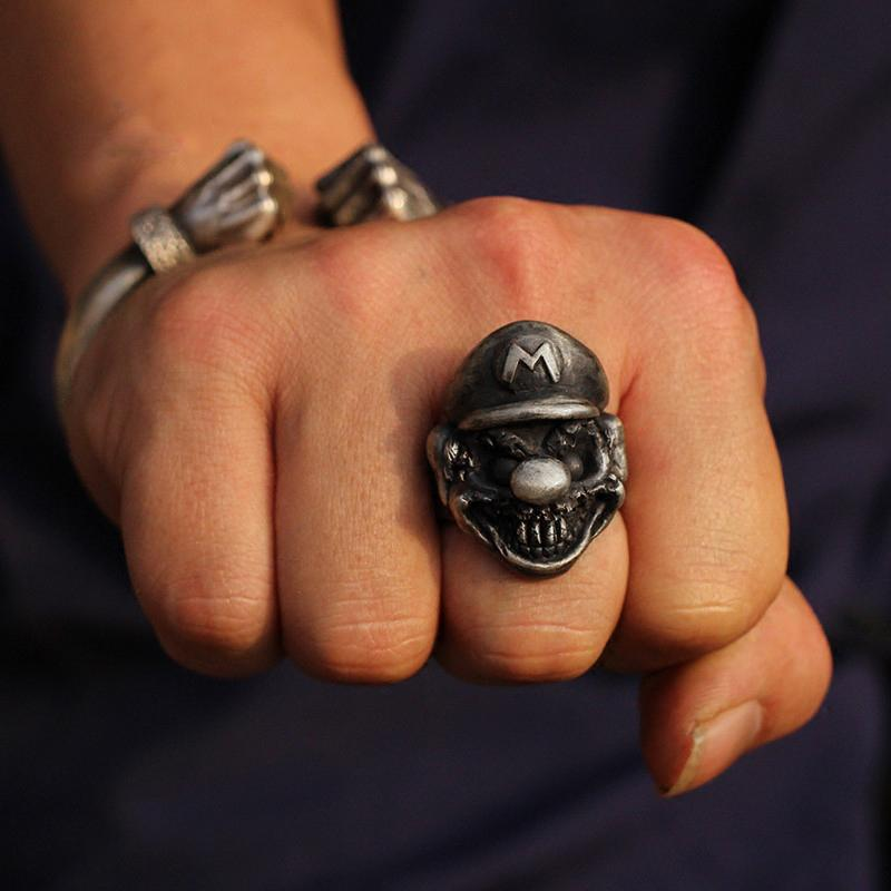 Super Mario Sterling Silver Ring