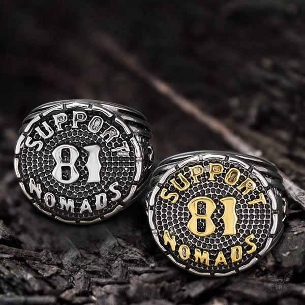 Support 81 Nomads Stainless Steel Ring