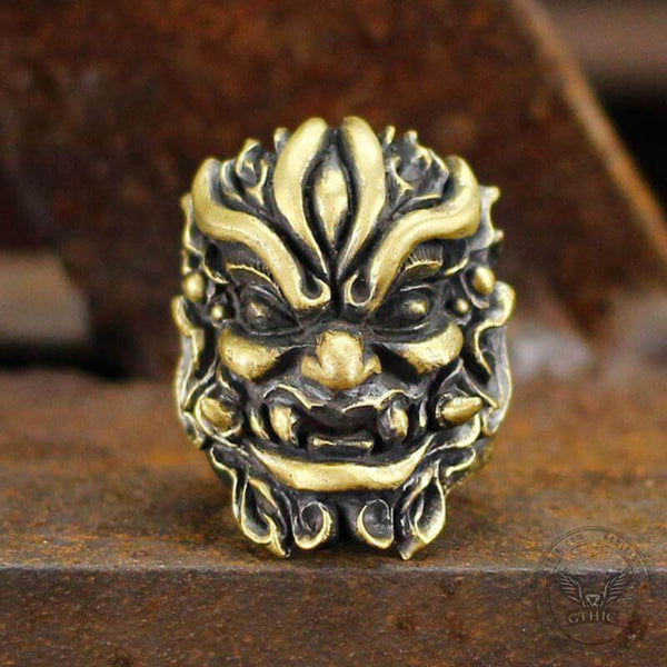 Warrior Chi You Brass Mythology Ring