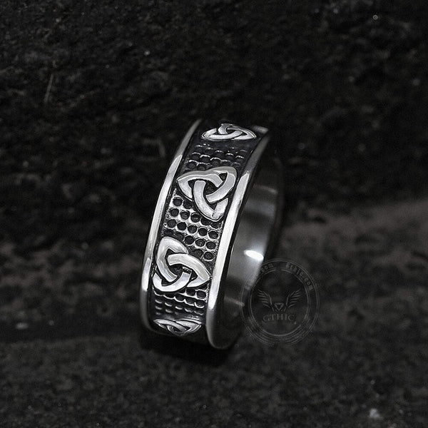 Warrior Triquetra Stainless Steel Viking Ring | Gthic.com