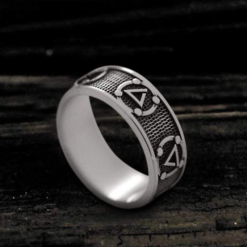 Witchers Elements Signs Stainless Steel Ring