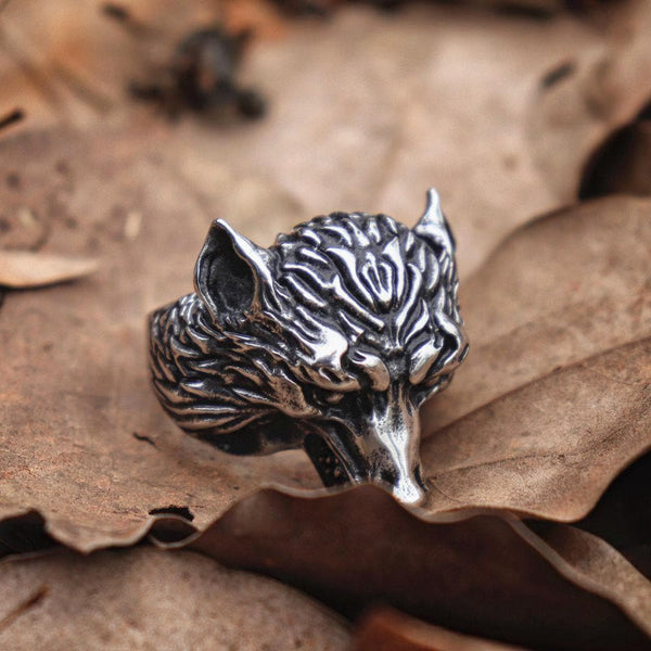 Wolf Stainless Steel Beast Ring