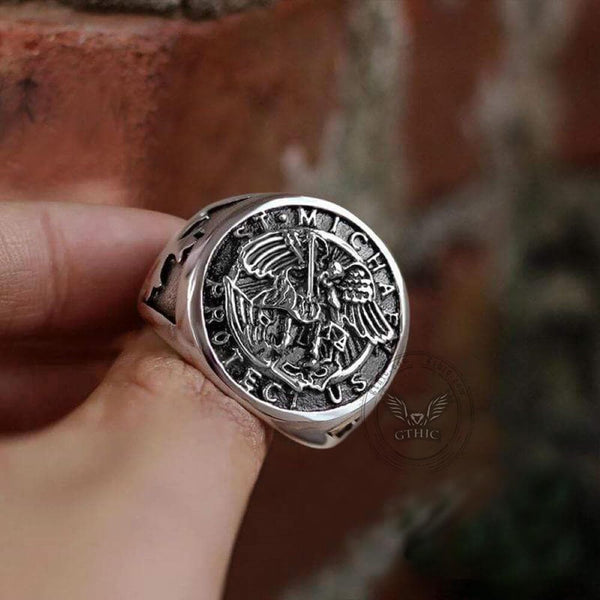 Guardian Angel Templar Knight Ring | Gthic.com