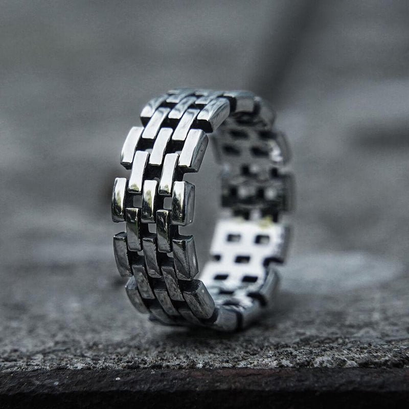 Hollow Chain Stainless Steel Ring