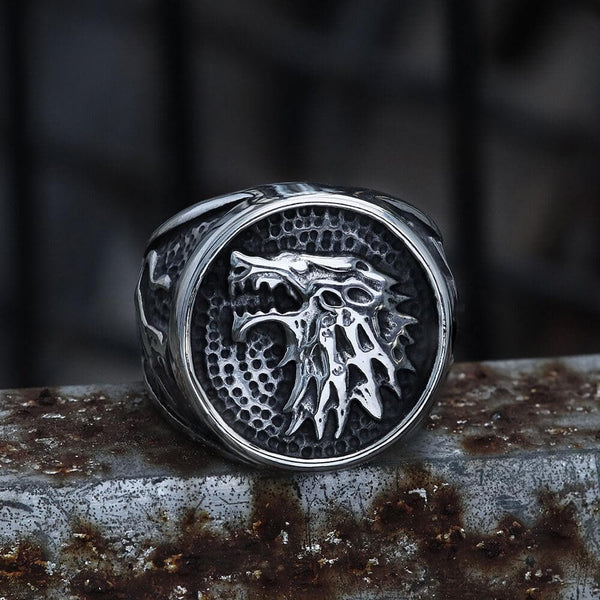 House Stark Direwolf Stainless Steel Ring