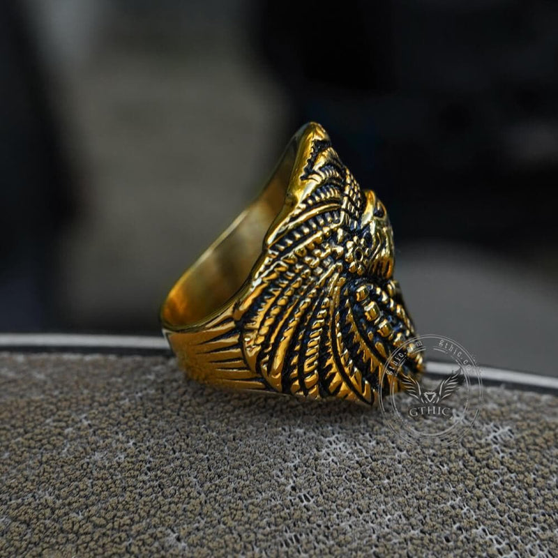 Indian Eagle Stainless Steel Ring