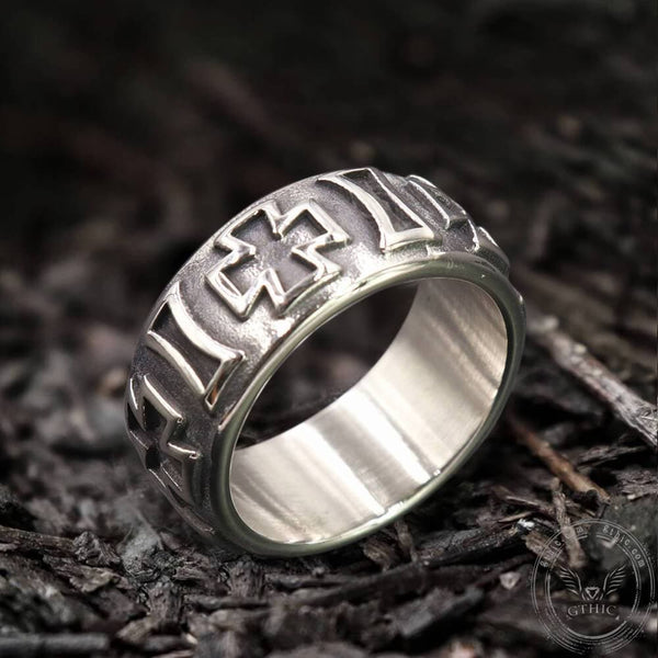 Iron Cross Stainless Steel Ring