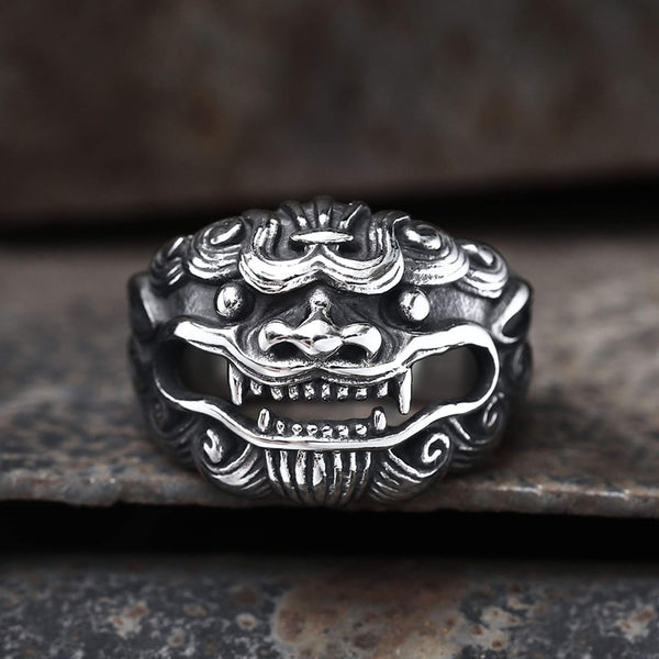 Japanese Demon Stainless Steel Beast Ring