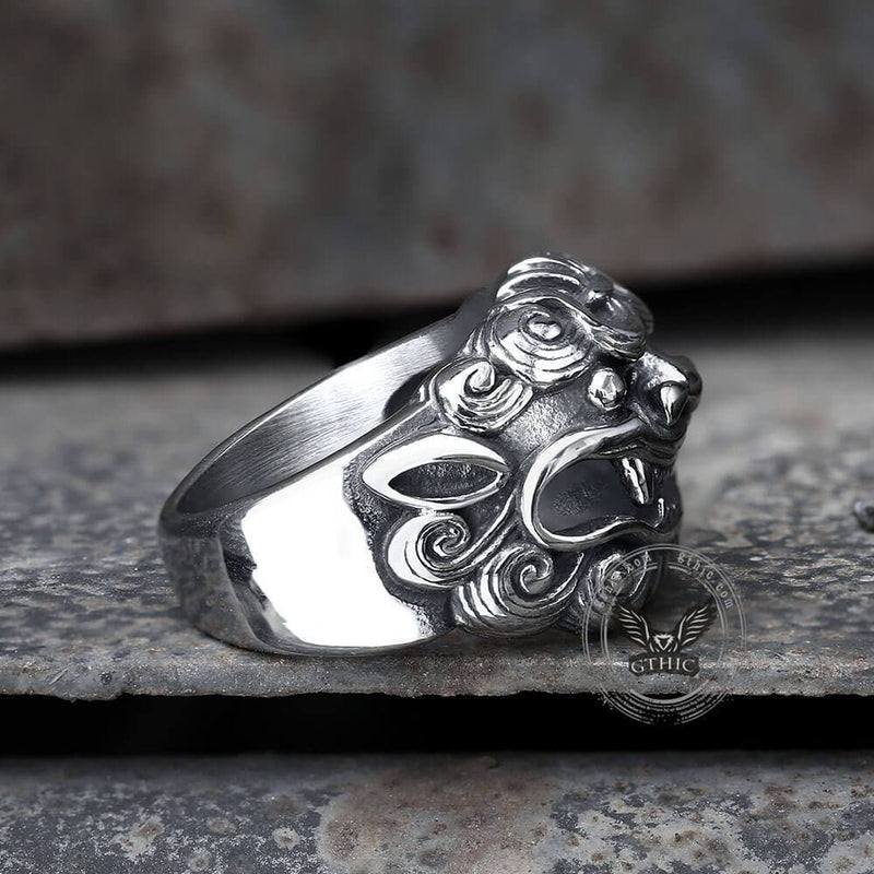 Japanese Demon Stainless Steel Beast Ring | Gthic.com