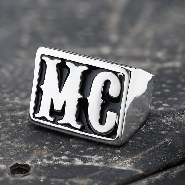MC Stainless Steel Biker Ring