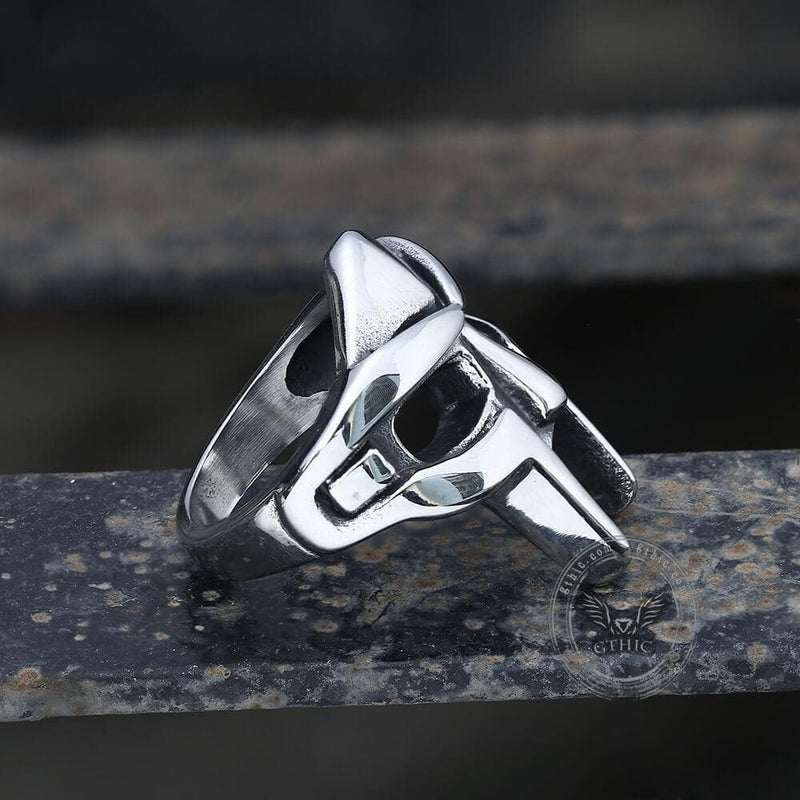 MF DOOM Mask Stainless Steel Ring
