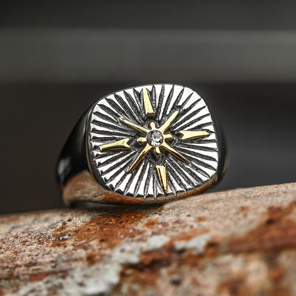 Minimalist Polaris CZ Stainless Steel Ring
