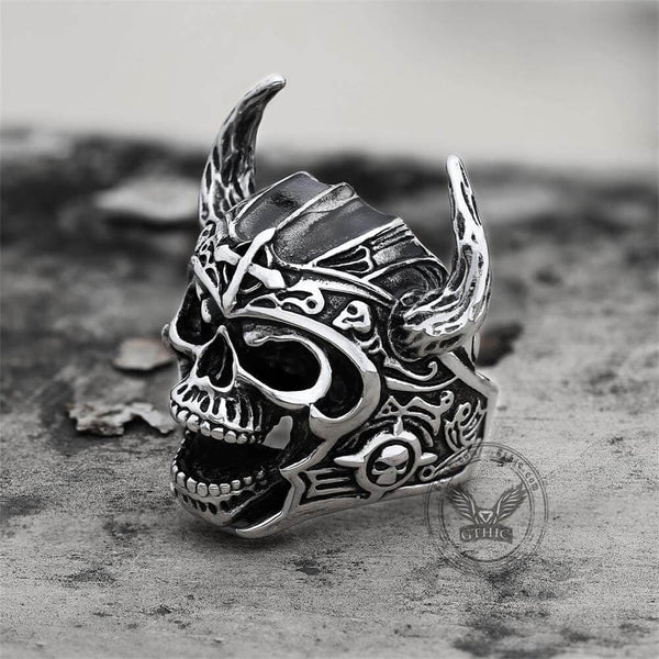 Nordic God of War Viking Warrior Skull Ring | Gthic.com
