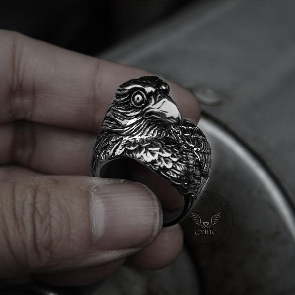 Nordic Eagle Stainless Steel Viking Ring