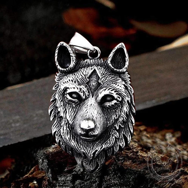 Nordic Wolf Stainless Steel Viking Pendant