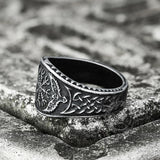 Norse Helm of Awe Eagle Stainless Steel Viking Ring