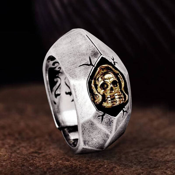 Not To Say Skull Sterling Silver Biker Ring