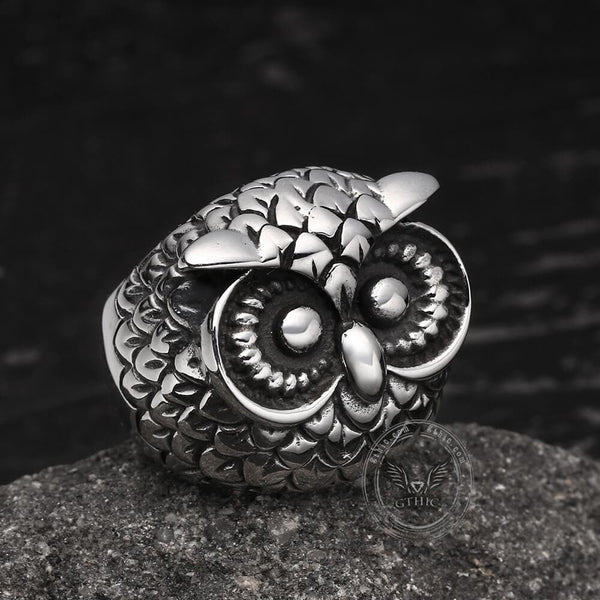 Owl Stainless Steel Animal Ring