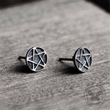 Pentacle Sterling Silver Stud Earrings
