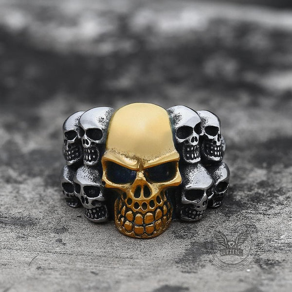 Phantom Stainless Steel Skull Ring