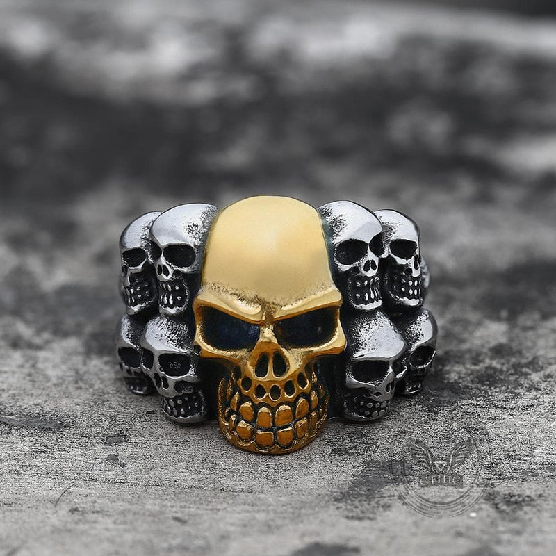 Phantom Stainless Steel Skull Ring | Gthic.com