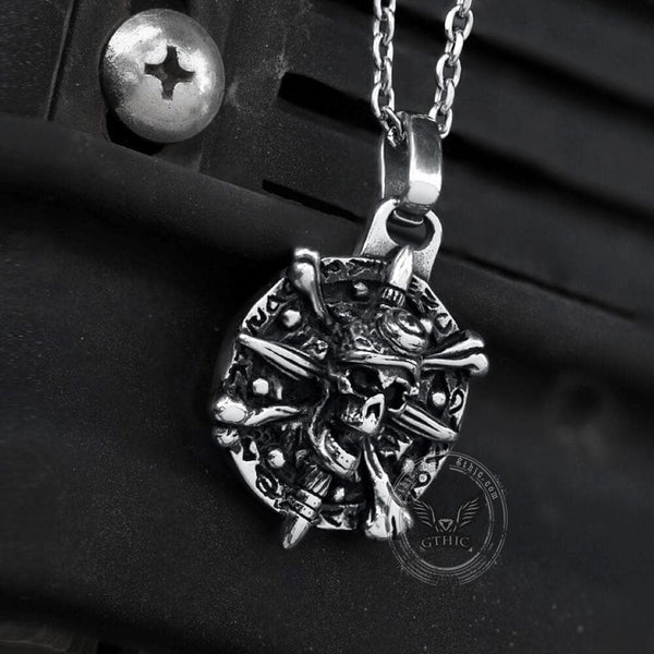 Pirate Skull Stainless Steel Pendant