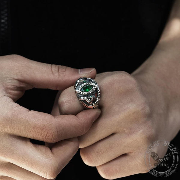 Power Snake Stainless Steel Beast Ring