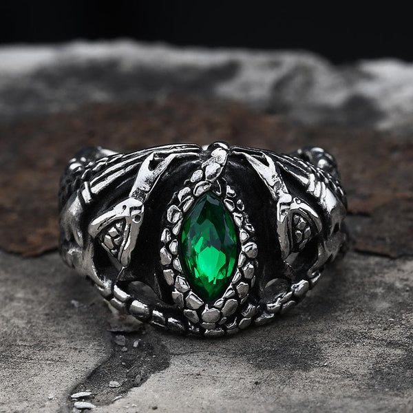 Power Snake Stainless Steel Beast Ring | Gthic.com