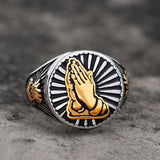Praying Hand Stainless Steel Ring