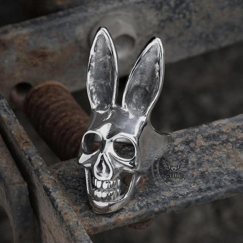 Rabbit Skull Stainless Steel Ring