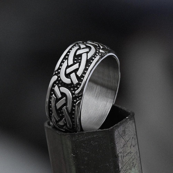 Retro Celtic Knots Stainless Steel Viking Ring