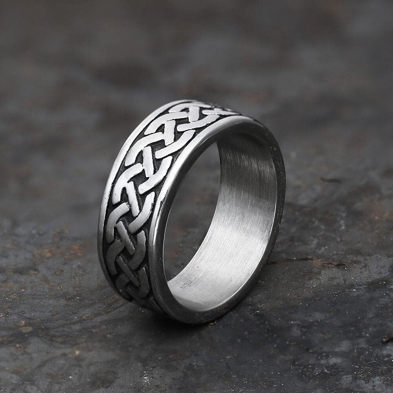 Retro Classic Pattern Stainless Steel Ring