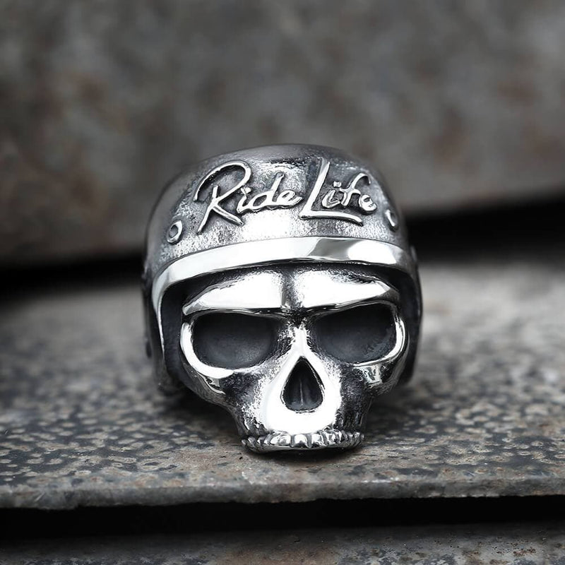 Ride Life Stainless Steel Skull Biker Ring