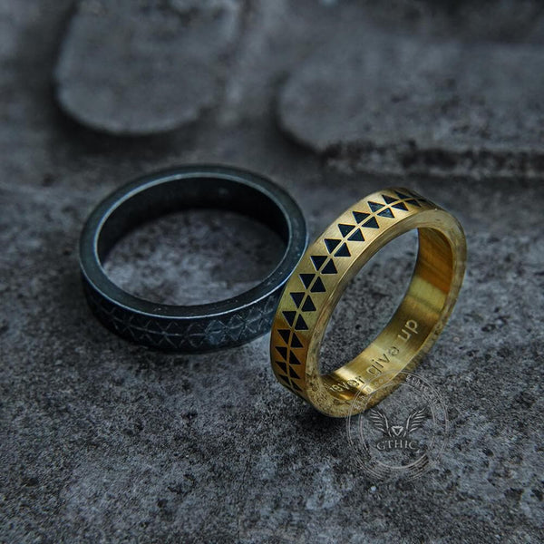 Sawtooth Pattern Stainless Steel Ring