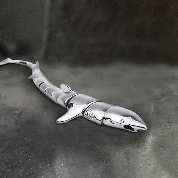 Great White Shark Stainless Steel Bracelet