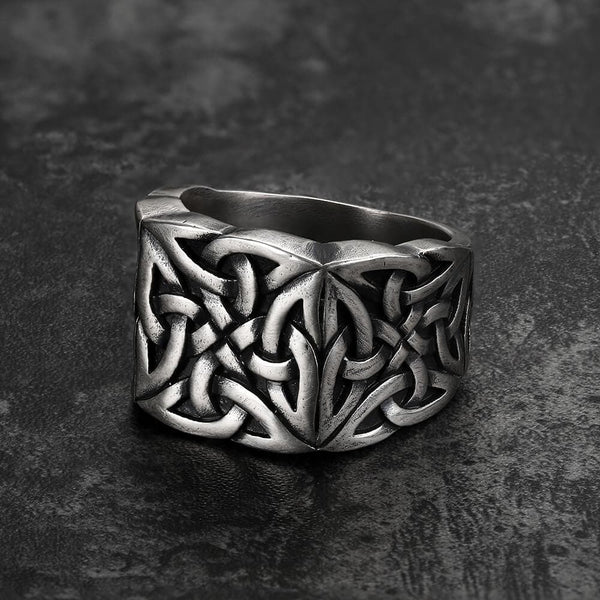 Simple Knot Sterling Silver Viking Ring
