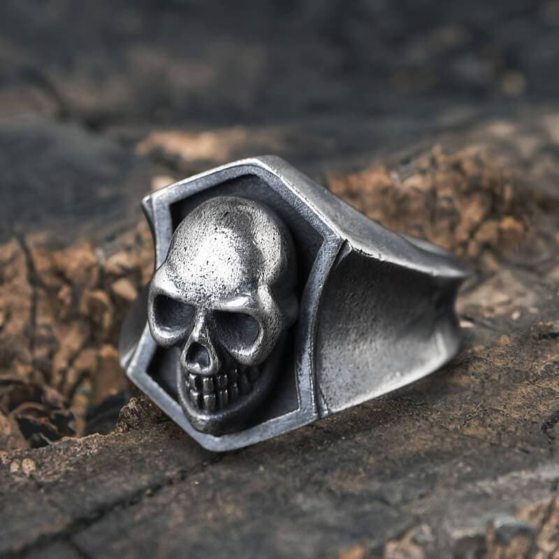 Smiling Skull Stainless Steel Ring