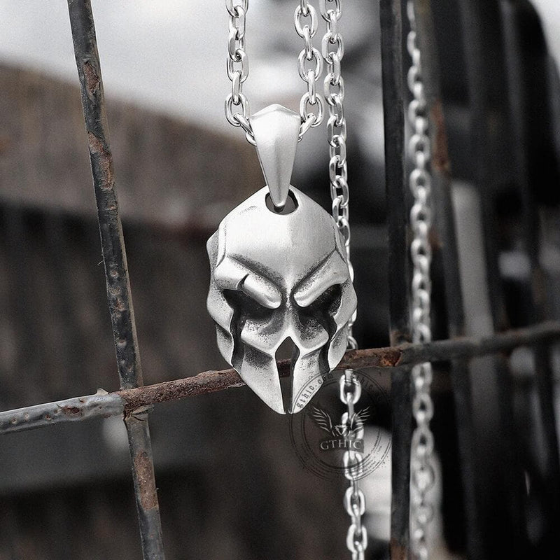 Spartan Warrior Helmet Stainless Steel Pendant