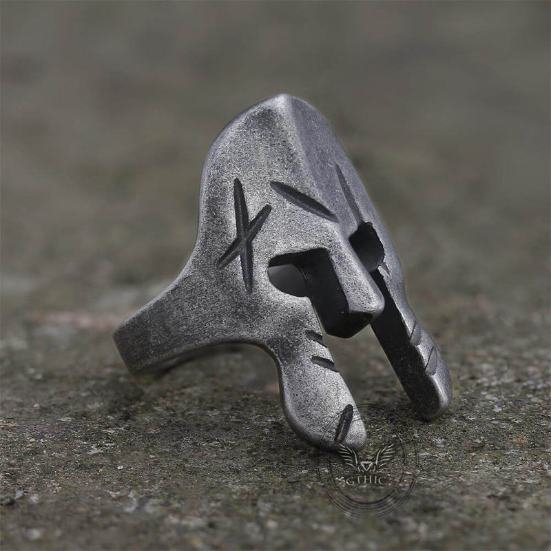 Spartan Warrior Helmet Stainless Steel Ring