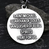 St. Michael Stainless Steel Pendant