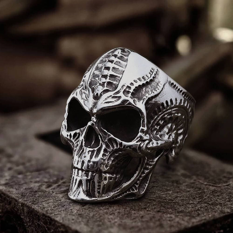 Steampunk Stainless Steel Skull Ring