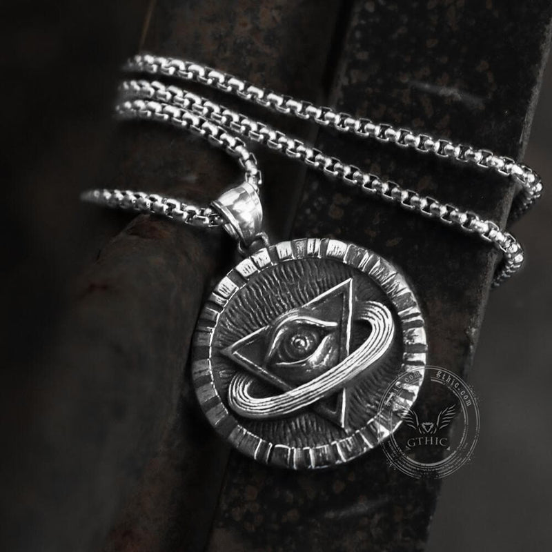The All-Seeing Eye of God Stainless Steel Masonic Pendant