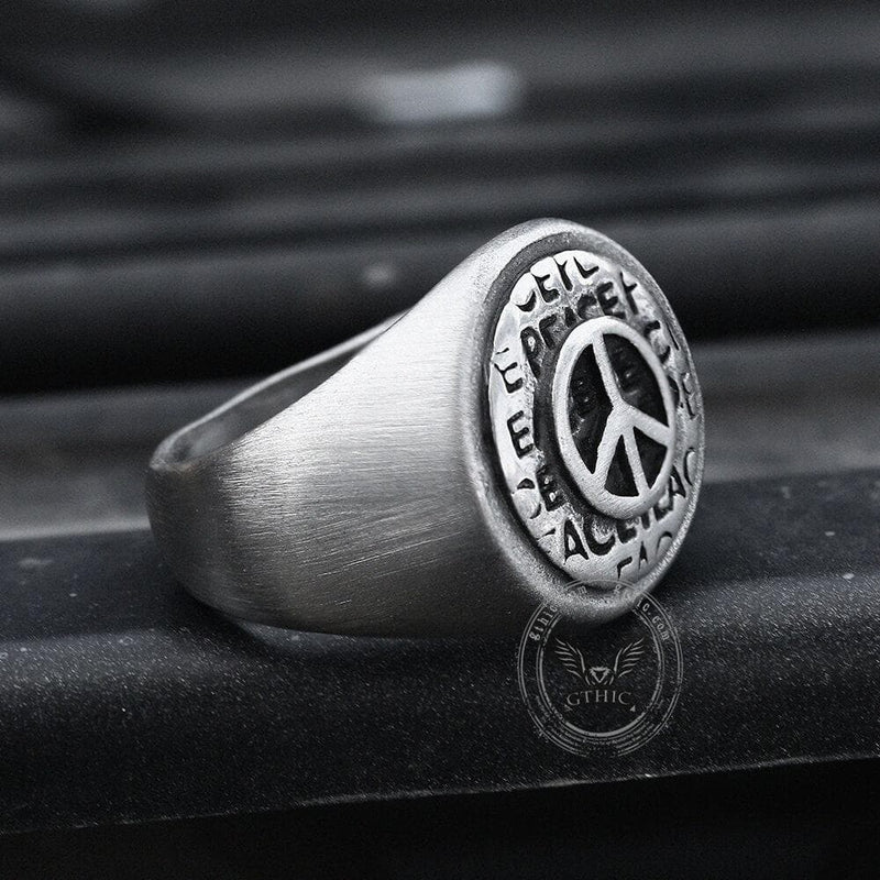The Peace Symbol Stainless Steel Ring