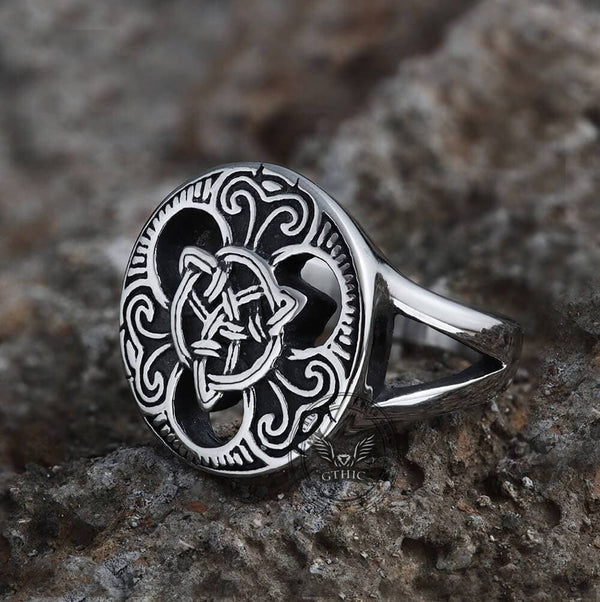 Trinity Celtics Knot Stainless Steel Viking Ring
