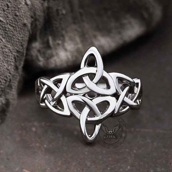 Triquetra Irish Celtics Stainless Steel Viking Ring