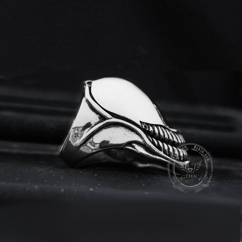 Unique Skull Stainless Steel Openable Ring