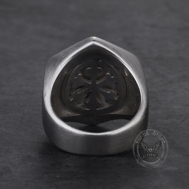 Vegvisir Totem Sterling Silver Viking Ring